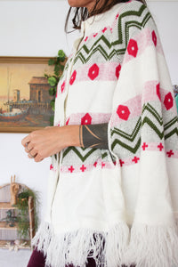 60s Knitted Hippie Poncho