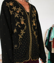 Load image into Gallery viewer, Vintage Beaded Cardigan S-M