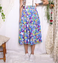 Load image into Gallery viewer, 80s midi skirt - M