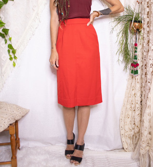 Cherry red vintage skirt - XS