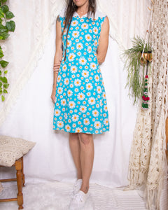 Sweet 60s daisy dress - M