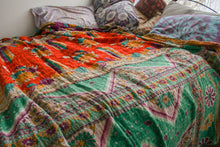 Load image into Gallery viewer, Queen Kantha Quilt #27
