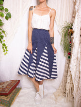 Load image into Gallery viewer, Nautical vintage skirt L-XL