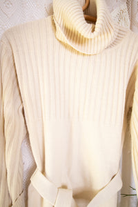 70s roll neck belted sweater XS-S