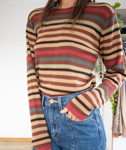 70's style wool-blend sweater S