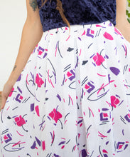 Load image into Gallery viewer, 1980s Abstract Midi Skirt M