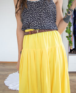 Sunny yellow cotton skirt L