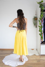 Load image into Gallery viewer, Sunny yellow cotton skirt L