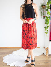 Load image into Gallery viewer, Paisley floral midi skirt XS-S