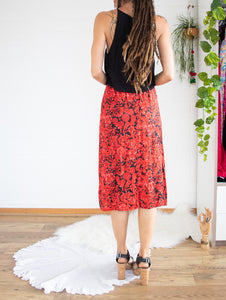 Paisley floral midi skirt XS-S