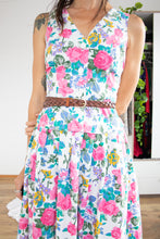 Load image into Gallery viewer, 80s-does-50s cotton floral dress M