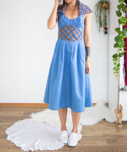 Load image into Gallery viewer, 1970s chambray picnic dress S-M