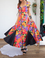 Load image into Gallery viewer, Floral vintage summer party dress M