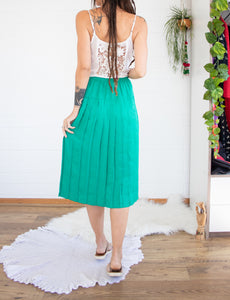 Emerald 80s pleated skirt XS-S