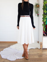 Load image into Gallery viewer, Winter white 70's skirt L