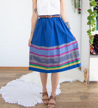 Load image into Gallery viewer, Preloved ethnic cotton skirt L