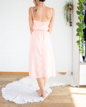 Load image into Gallery viewer, Dreamy peach 70s dress S-M