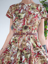 Load image into Gallery viewer, Autumnal 80's cotton dress M