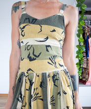 Load image into Gallery viewer, Earthy linen 80's sundress S