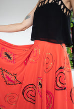 Load image into Gallery viewer, 80s Aztec circle skirt L