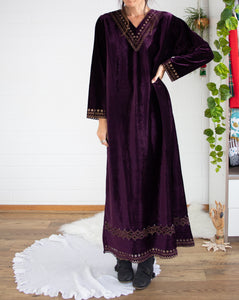 Lawrence Kazar velvet maxi dress x2