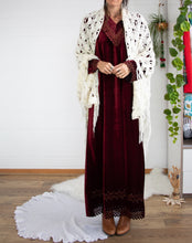 Load image into Gallery viewer, Lawrence Kazar velvet maxi dress x2