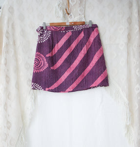 Kantha Wrap Skirt L/XL (#403)