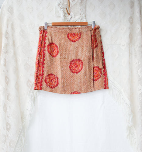 Kantha Wrap Skirt L/XL (#405)