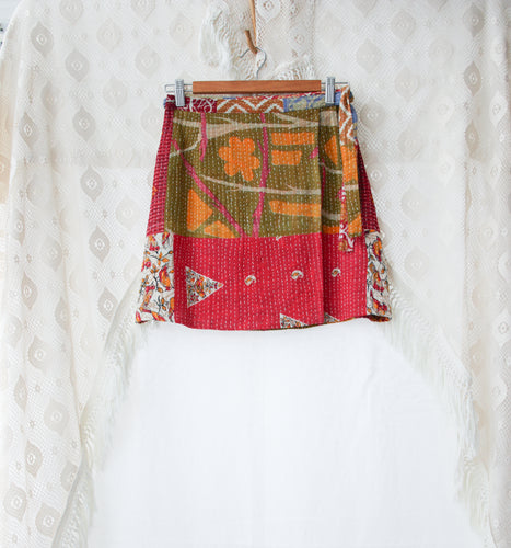 Kantha Wrap Skirt S/M (#412)