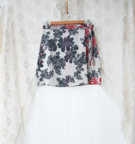 Kantha Wrap Skirt S/M (#413)