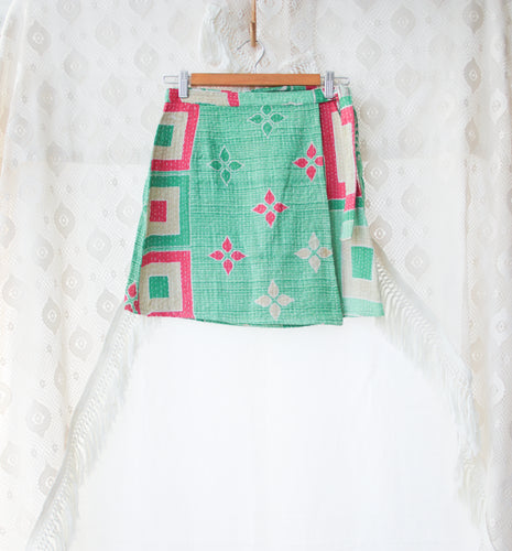 Kantha Wrap Skirt S/M (#419)