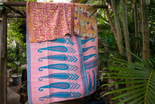 Load image into Gallery viewer, Single Kantha Quilt #10