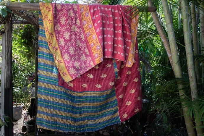 Single Kantha Quilt #344
