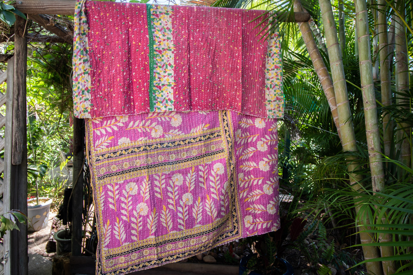 Single Kantha Quilt #308