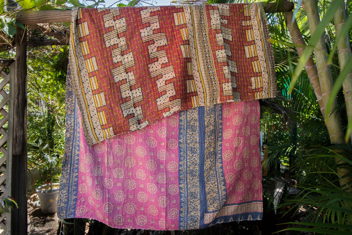 Single Kantha Quilt #23
