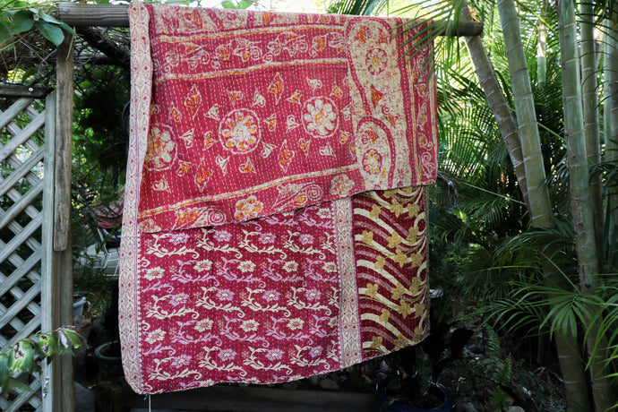 Single Kantha Quilt #18