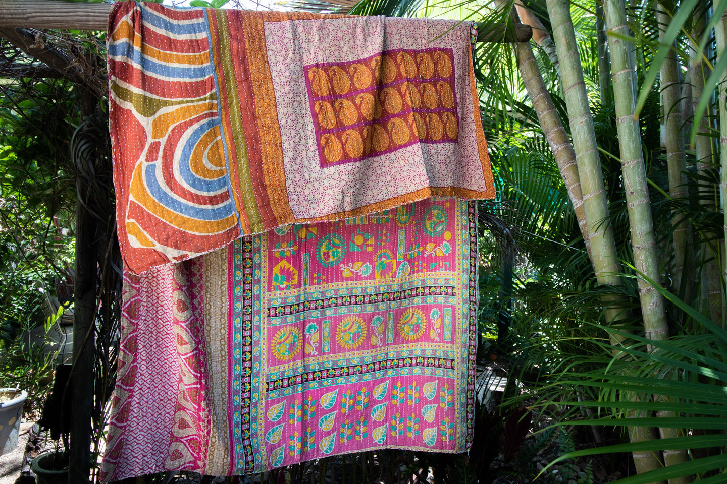 Single Kantha Quilt #349