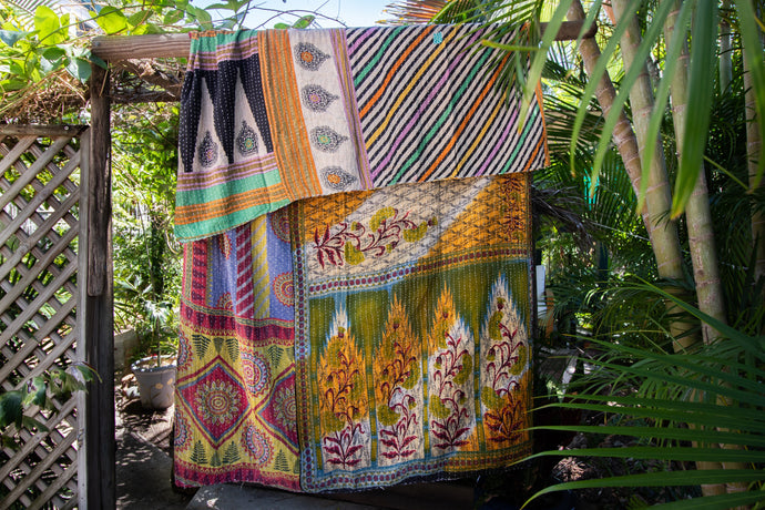 Single Kantha Quilt #13