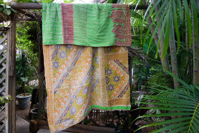 Single Kantha Quilt #310