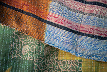 Load image into Gallery viewer, Single Kantha Quilt #14