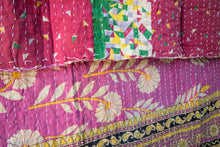 Load image into Gallery viewer, Single Kantha Quilt #308