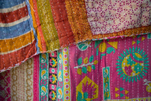 Load image into Gallery viewer, Single Kantha Quilt #349