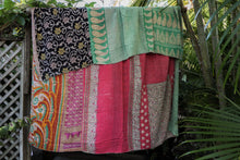 Load image into Gallery viewer, Queen Kantha Quilt #22