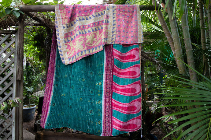 Single Kantha Quilt #352