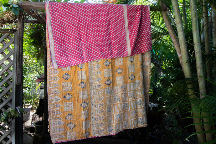 Single Kantha Quilt #536