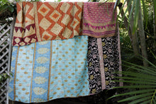 Load image into Gallery viewer, Queen Kantha Quilt #8