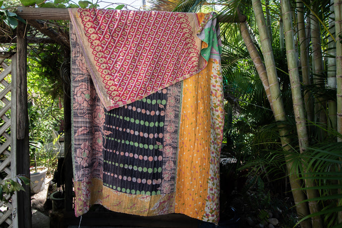 Single Kantha Quilt #334