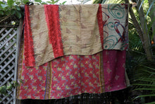 Load image into Gallery viewer, Queen Kantha Quilt #345