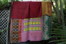 Load image into Gallery viewer, Queen Kantha Quilt #30