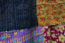 Load image into Gallery viewer, Queen Kantha Quilt #19
